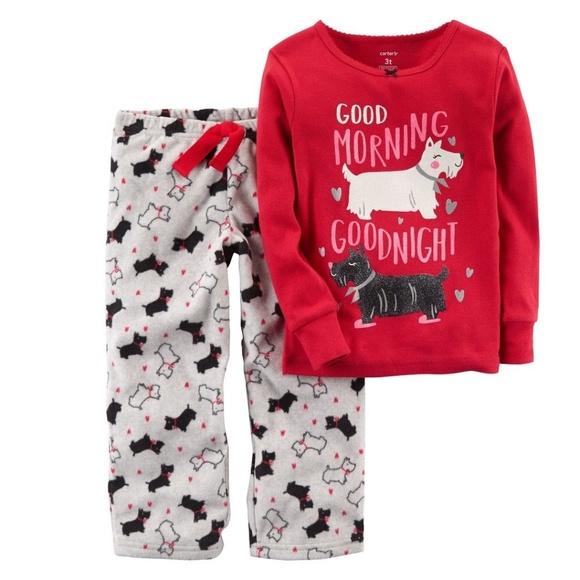 60fdee5fd Carter's Pajamas | Carters Fleece Scotty Dog Toddler 2t5t | Poshmark
